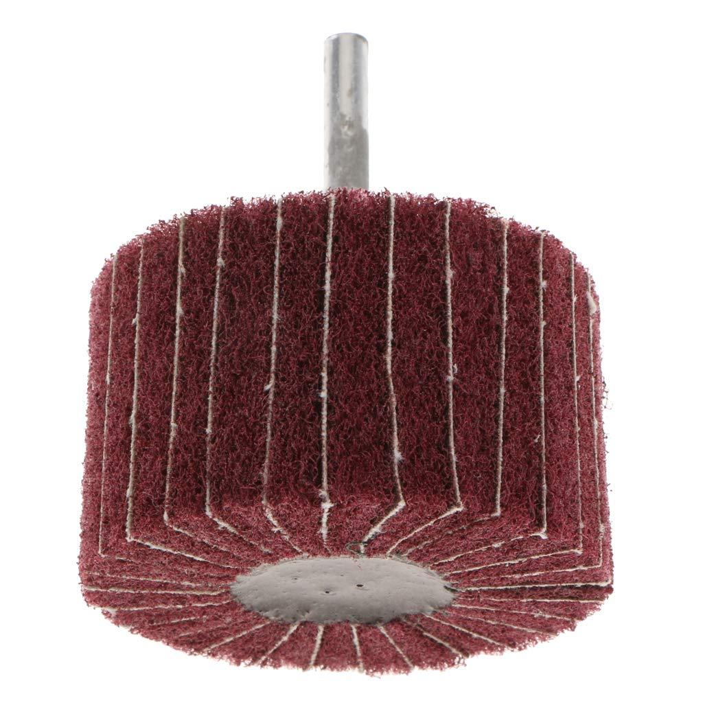 6 mm Rundschaft f/ür Metall//Holz 80 /× 25 /× 6 Rot B Blesiya Hochwertige Polierscheibe Schleifscheibe Vlies Schleifrad mit Spanndorn