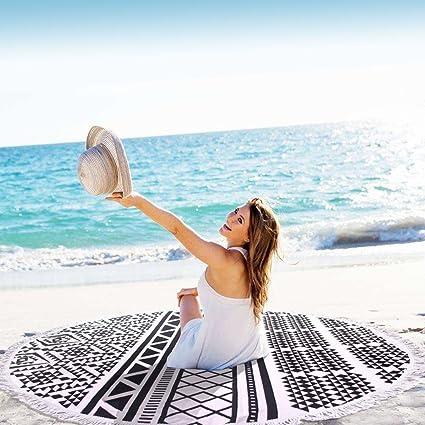 Toalla de playa, BEECOCO Tapicería de mandala apta para playa al aire libre y decoración
