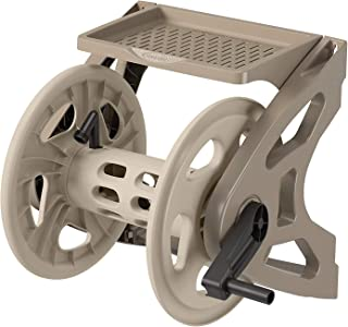 product image for Suncast Resin Wall Mounted Handler Hose Reel - Durable Outdoor Hose Reel with Crank Handle and Storage Tray - 200' Hose Capacity - Taupe