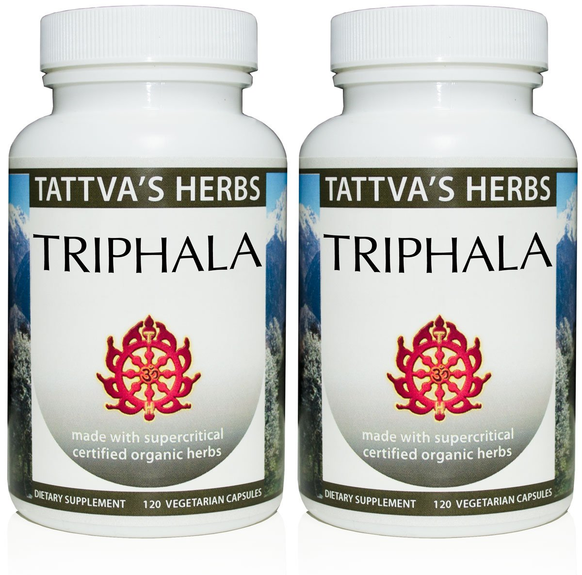 Triphala - Organic Full Spectrum Extract 500 mg. 240 Vcaps (2 Pack - 120 ct./ea)