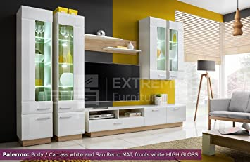 Merveilleux Living Room High Gloss Furniture Set Display Wall Unit TV Unit Cabinet  PALERMO