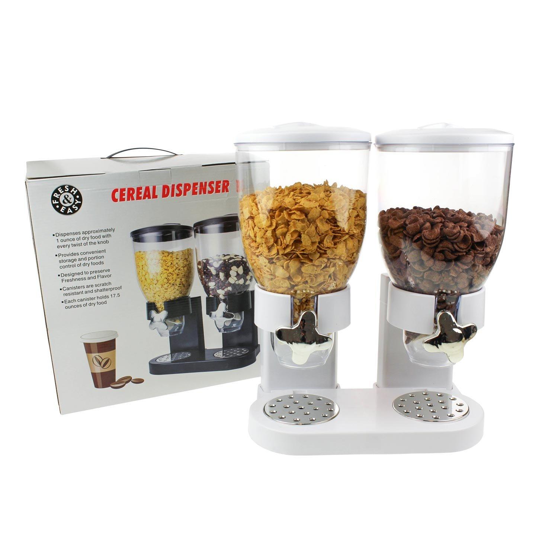 Doble de dispensador para cereales, Corn Flakes y cereales en color blanco: Amazon.es: Hogar