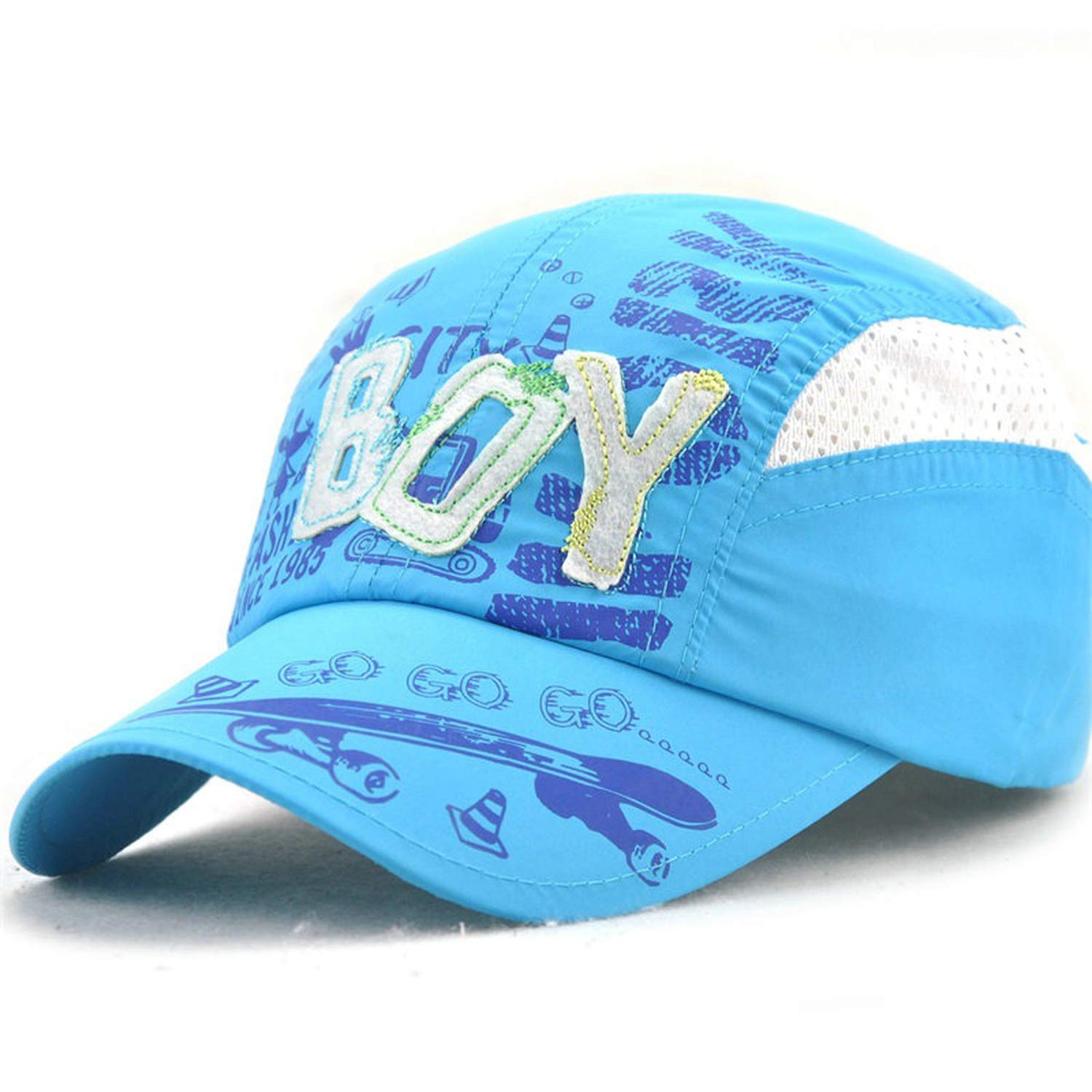 ANDERDM Summer Baseball Caps for Children Quick Drying Hat Child Boys Girls Sports Hats Anti UV Sunscreen Snapback Cap