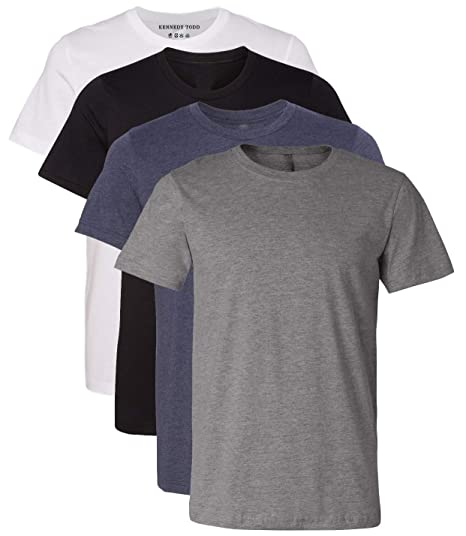 Kennedy Todd 4 Pack Men's Heather Cotton Poly T Shirt by Kennedy Todd