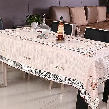 ZB Jardín llano algodón y lino slip mantel té tela cinta bordada toalla tapa mesa , 90*200cm (bed): Amazon.es: Hogar