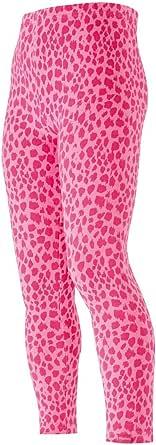 Playshoes Leggings Lang Leopardenmuster Rosa/Pink Niñas