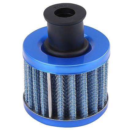 Qiilu 0.5L Universal Aluminio Depósito del aceite del motor Filtro del respiradero del depósito para Coche(plata): Amazon.es: Electrónica
