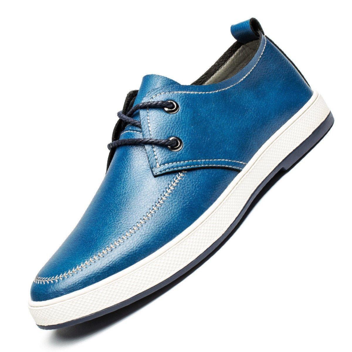 GRRONG Zapatos De Hombre Zapatos De Marea Zapatos Casuales De Inglaterra Youth Board 39 EU|Blue