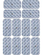 Compatible electrodes SANITAS BEURER BOOTS - 12 mediumTENS & EMS pads for electrostimulation machines - 3.5mm button - axion brand quality