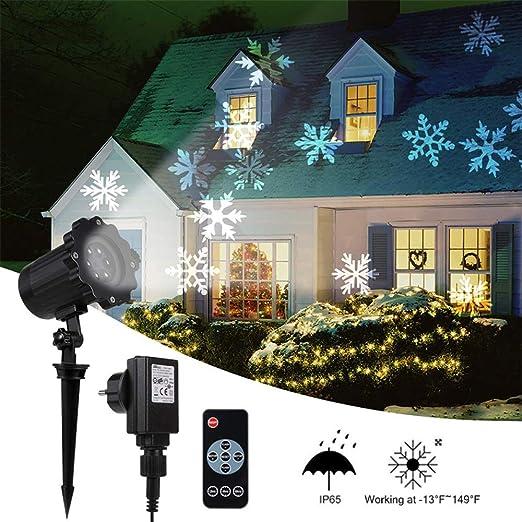 Proyector De Copo De Nieve De Navidad Nevadas Luces De ...