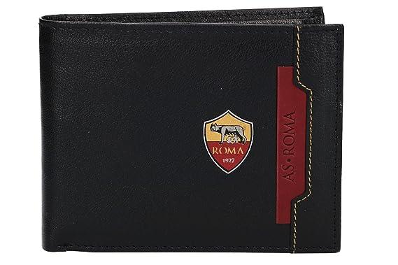 27a1e672a4 Portafoglio uomo AS ROMA nero in pelle con portamonete e patta VA835:  Amazon.it: Abbigliamento