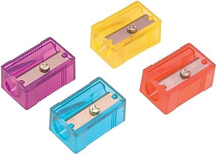 Helix Plástico Un agujero Sacapuntas - Surtido de Colores (Caja de 10) Q03050: Amazon.es: Oficina y papelería