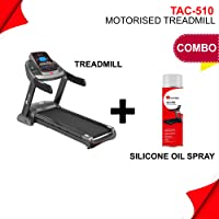 Powermax Fitness TAC-510 (4.5HP) Semi-Commercial AC Motorized Treadmill with 7.1 inch LCD Display