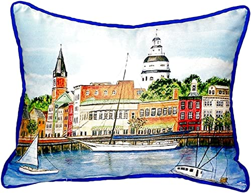 Betsy Drake SN728 Annapolis City Dock Pillow, 11 x14
