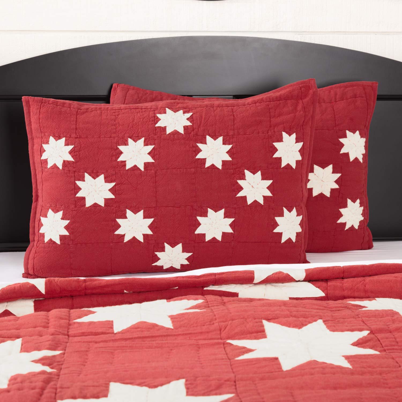 Kent Red Sham Standard 28837 VHC Brands Christmas Farmhouse Bedding