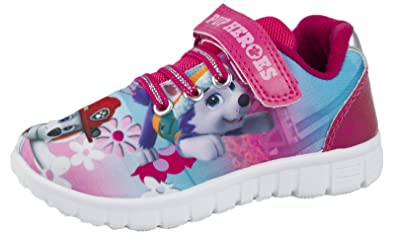 Paw Patrol Girls Low Top Sports Trainers Shoes Pink UK Sizes Child 5-10