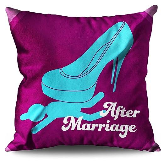 Matrimonio Boda Funny Alta Talón Cojín De Lino/Trow almohada ...