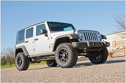 fits 2007 to 2011 PA992 Performance Accessories Jeep Wrangler 2WD and 4WD JK//JKU Auto Transmission Only 2 Body Lift Kit Made in America