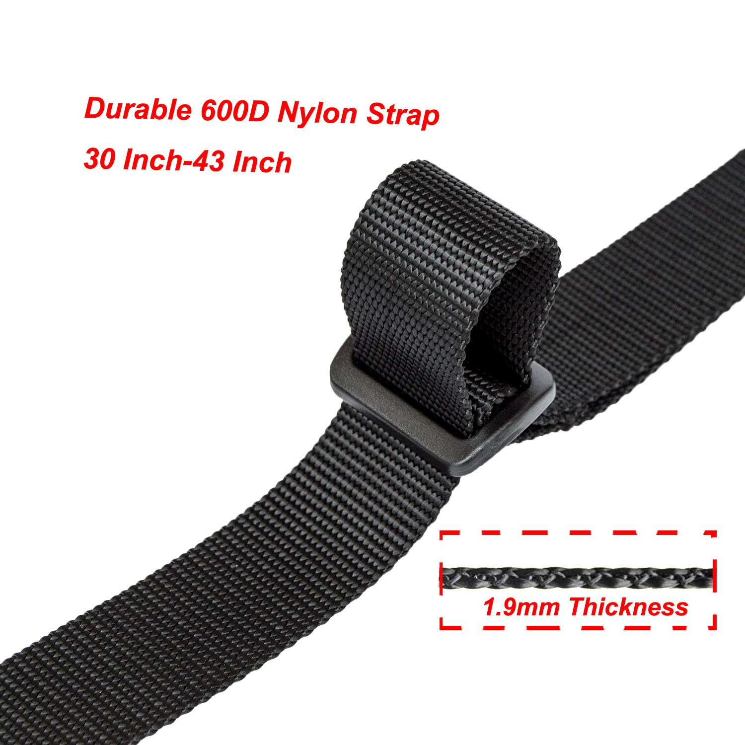 """Hongmei Outdoors 2 Point Rifle Sling with Shoulder Pad Adjustable Gun Strap with Release Buckle Rotation Clip 30""""- 43"""" by Hongmei Outdoors (Image #3)"""