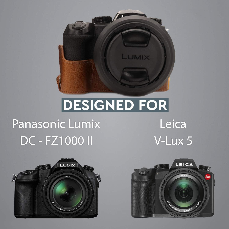 Panasonic Lumix DC-FZ1000 II MegaGear Custodia in Vera Pelle compatibilie con Leica V-Lux 5