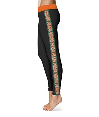 675ebfd1596fb Image Unavailable. Image not available for. Color: EndZone Miami Orange  Waist Green Stripe Black Leggings