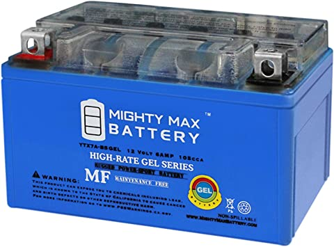 Amazon Com Mighty Max Battery Ytx7a Bs Gel 12v 6ah Battery For Scooter Kymco People 150 150cc 09 Brand Product Automotive