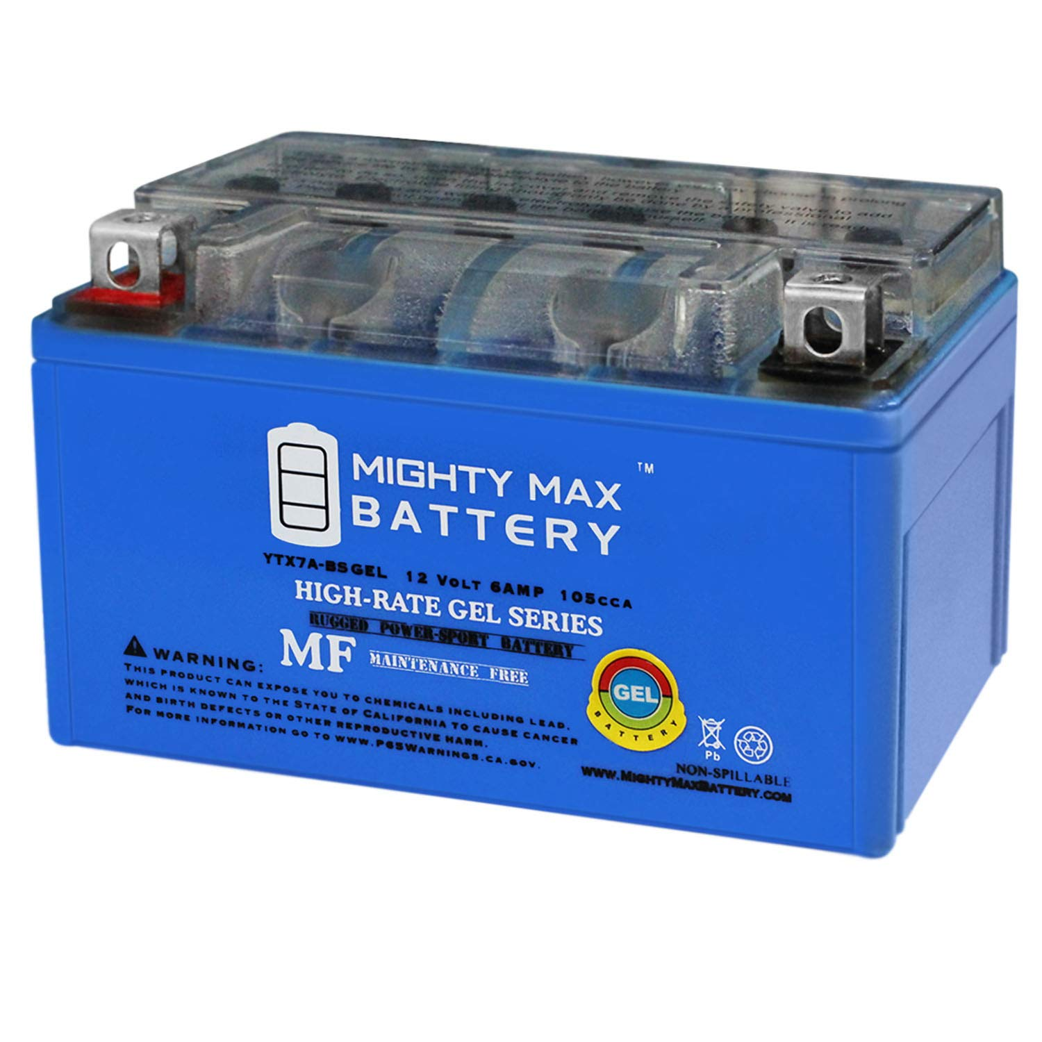 Mighty Max Battery YTX7A-BS Gel 12V 6AH Battery for Star 50cc Moped Scooter Brand Product