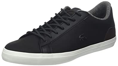 e4c3be7f1ba58 Lacoste Men s Lerond Leather Sneakers Black in Size UK 6.5