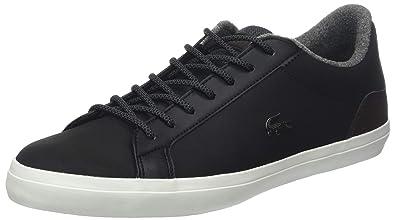 f44eba608a41 Lacoste Men s Lerond Leather Sneakers Black in Size UK 6.5