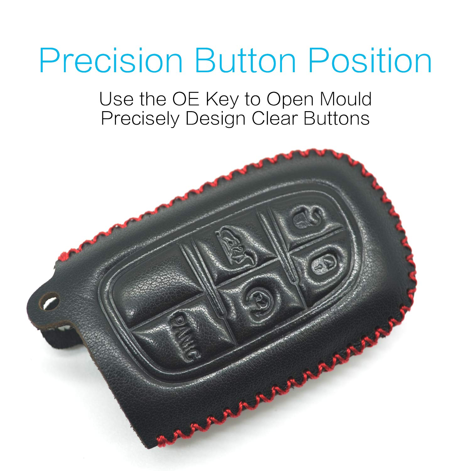 MECHCOS Compatible with fit for 2014 2015 2016 2017 2018 2019 Jeep Cherokee Silicone Case /& Key Ring Bonus 2015 Jeep Grand Cherokee Leather Case Key Fob Cover Keyless Car Remote Holder Protecter