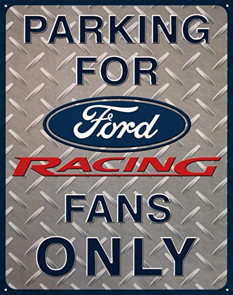 Ford Racing Parking Cartel de Chapa Placa metal plano Nuevo ...
