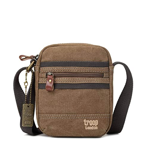 Troop London Canvas Leather Cross Body Bag 2c8aa602e3af0