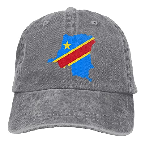 bd768f7a6 NavyLife Adults Congo Flag Map Adjustable Casual Cool Baseball Cap Retro  Cowboy Hat Cotton Dyed Caps Unisex at Amazon Men s Clothing store
