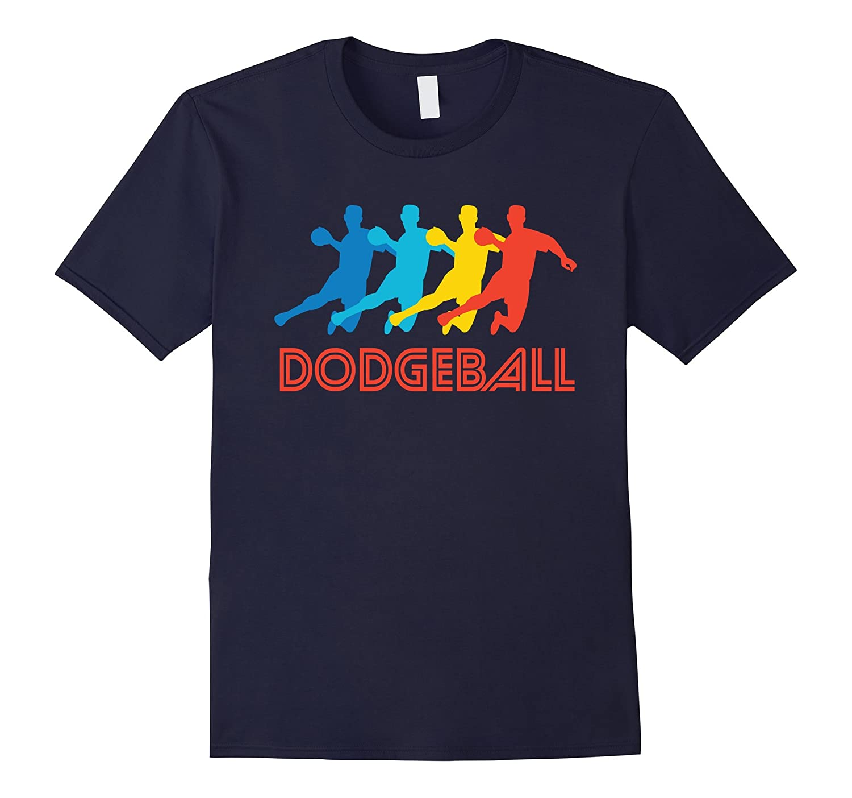 Dodgeball Player Retro Pop Art Dodgeball Graphic T-Shirt-TD