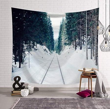 YUYINGXIANG Tapiz de Bosque de Nieve Decoración Colgante de ...