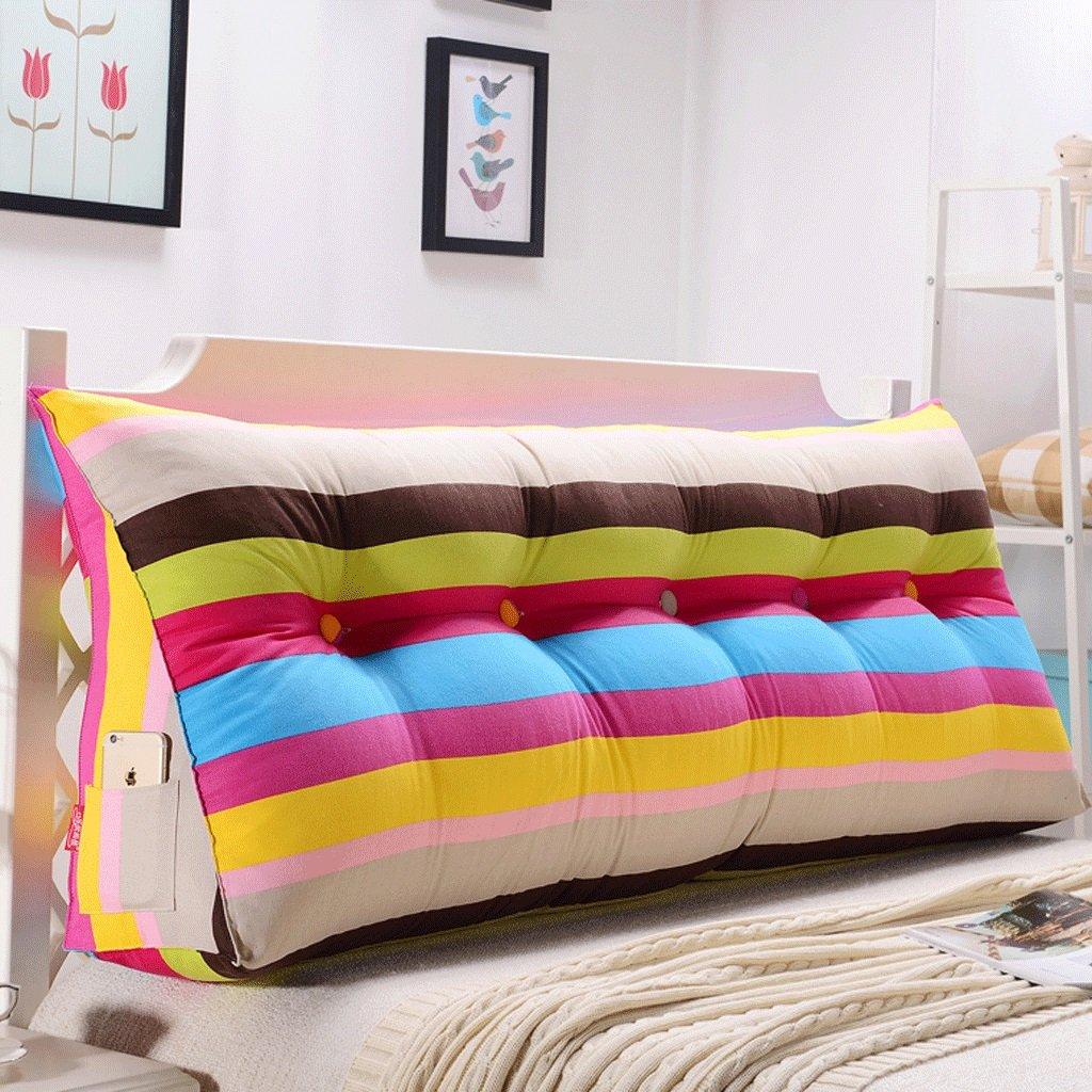FLy Doppio Cuscino del Cuscino del Letto Lombare della Testata del Cuscino del Dorso della Parte Posteriore del Doppio della Testa del Divano Cuscini da Comodino (colore   J, Dimensioni   120cm)