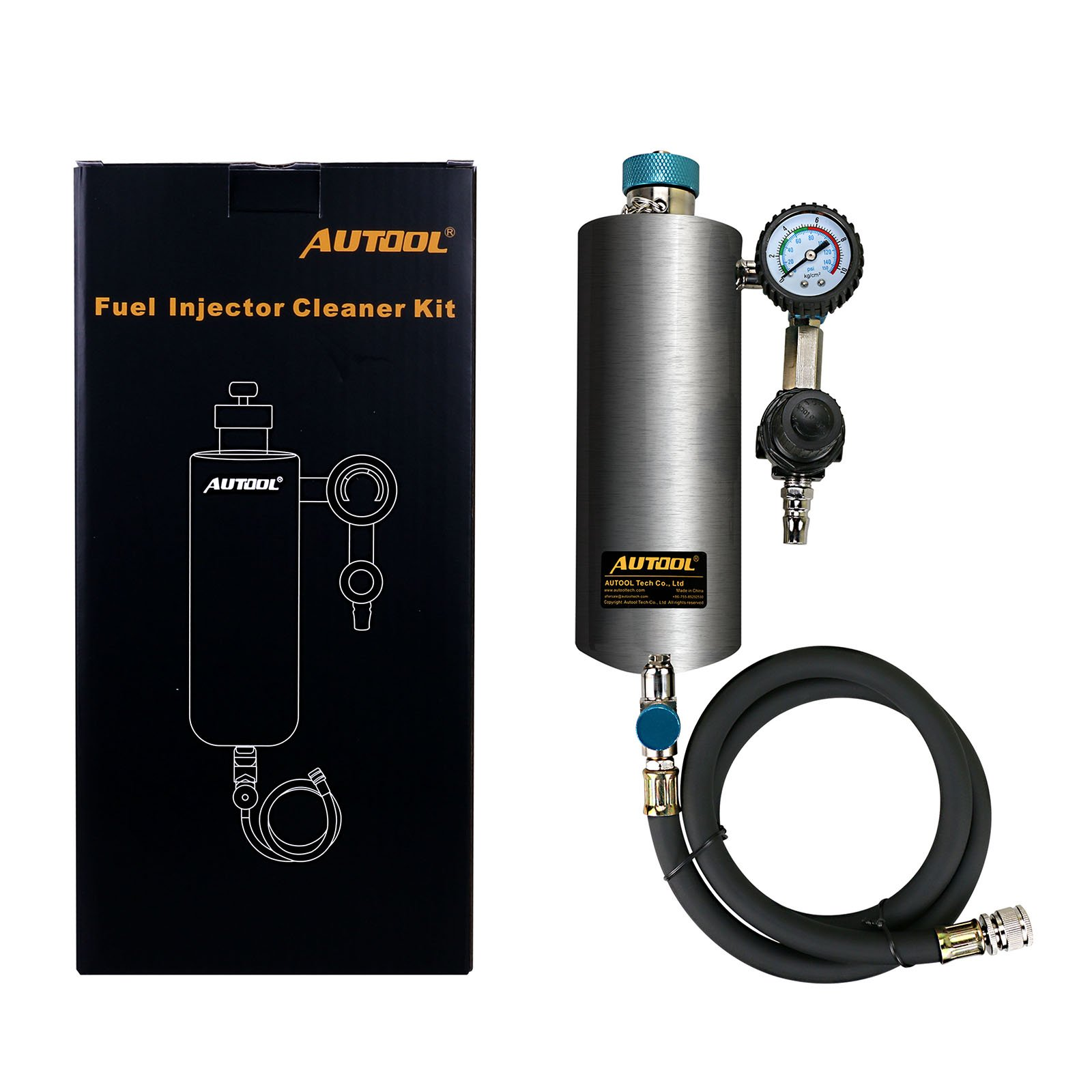 AUTOOL C80 Automotive Fuel Injection Systems Cleaning Tools C-80 CFS Series Fuel System Cleaning Assistant Fuel Injector Cleaner 600ML 140PSI