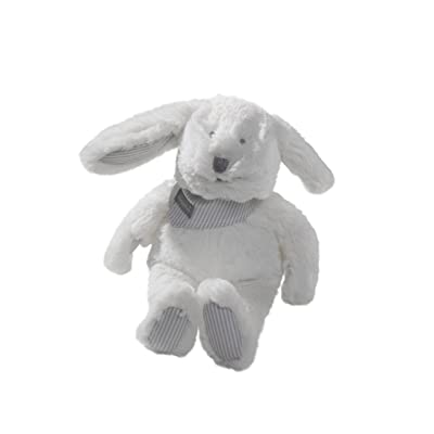Absorba Puériculture Peluche Lapin Forme Mr Martin Blanc 15 cm