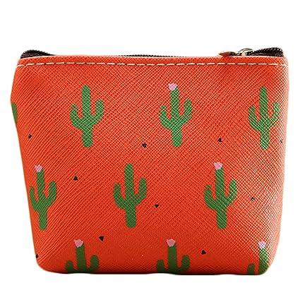Ruikey Cartera Cactus monederos de Mujer para Monedas ...