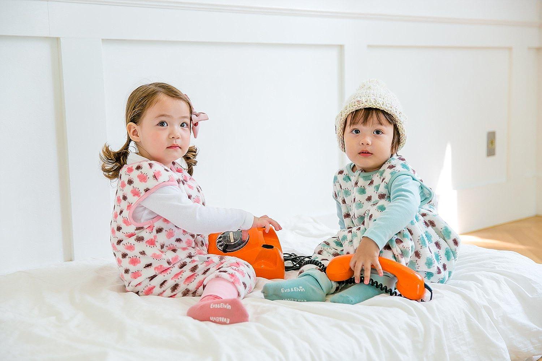 Vaenait baby 1-7Y Ultra Plush Fleece Kids Boys Wearable Blanket Slepper Cloud Mint