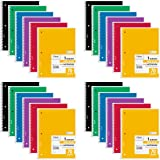 Mead Spiral Notebooks, Wide Ruled, 70 Sheets, Assorted Colors, 24 Pack (73701)