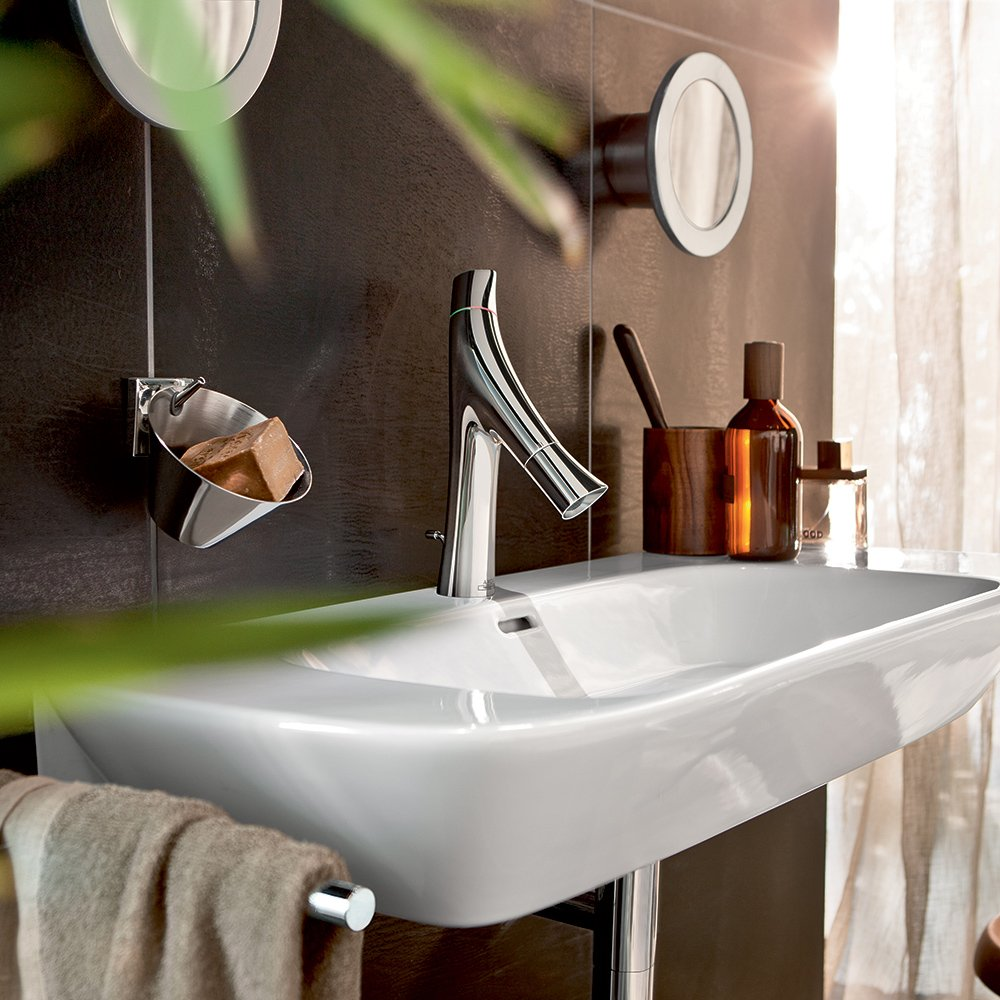 AXOR Axor 12010001 Starck Organic Faucet w/Pop-up Drain Chrome ...