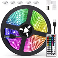 AGPTEK 5M LED Strip Lights RGB 5050 Colorful Lights with Remote Control 20 Colors 8 Brightness Modes Decorative LED Tape…