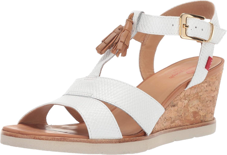 MARC JOSEPH New York Sandalias de Piel para Mujer Hechas en Brasil Dyckman St, Blanco (Cobra Blanca), 38 EU: Amazon.es: Zapatos y complementos
