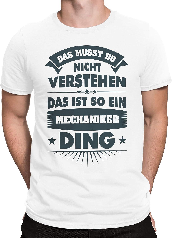 vanVerden Camiseta de Hombre Regalo de un mecánico Ding Mechanic Gift: Amazon.es: Ropa y accesorios