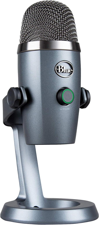 Blue Microphones Yeti Nano Usb Mikrofon Für Aufnahme Und Streaming Auf Pc Und Mac Verstellbares Stativ Plug Und Play Grau Musikinstrumente