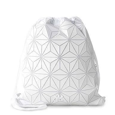 9c8ece21b3 adidas Originals 3D White Geographic Shapes Gym Sack Bag BP BJ9572   Amazon.ca  Clothing   Accessories