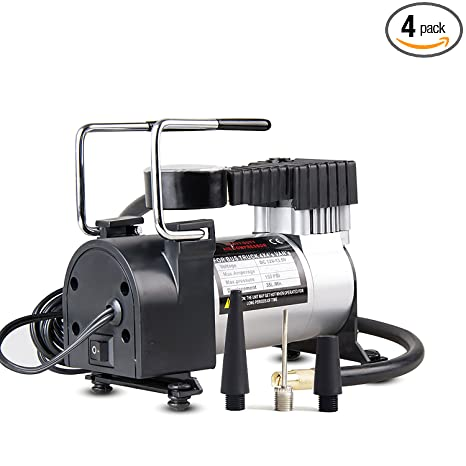 mieres On-Board Air Compressor Pump, 150 PSI 12V Electric Portable Digital Inflator with