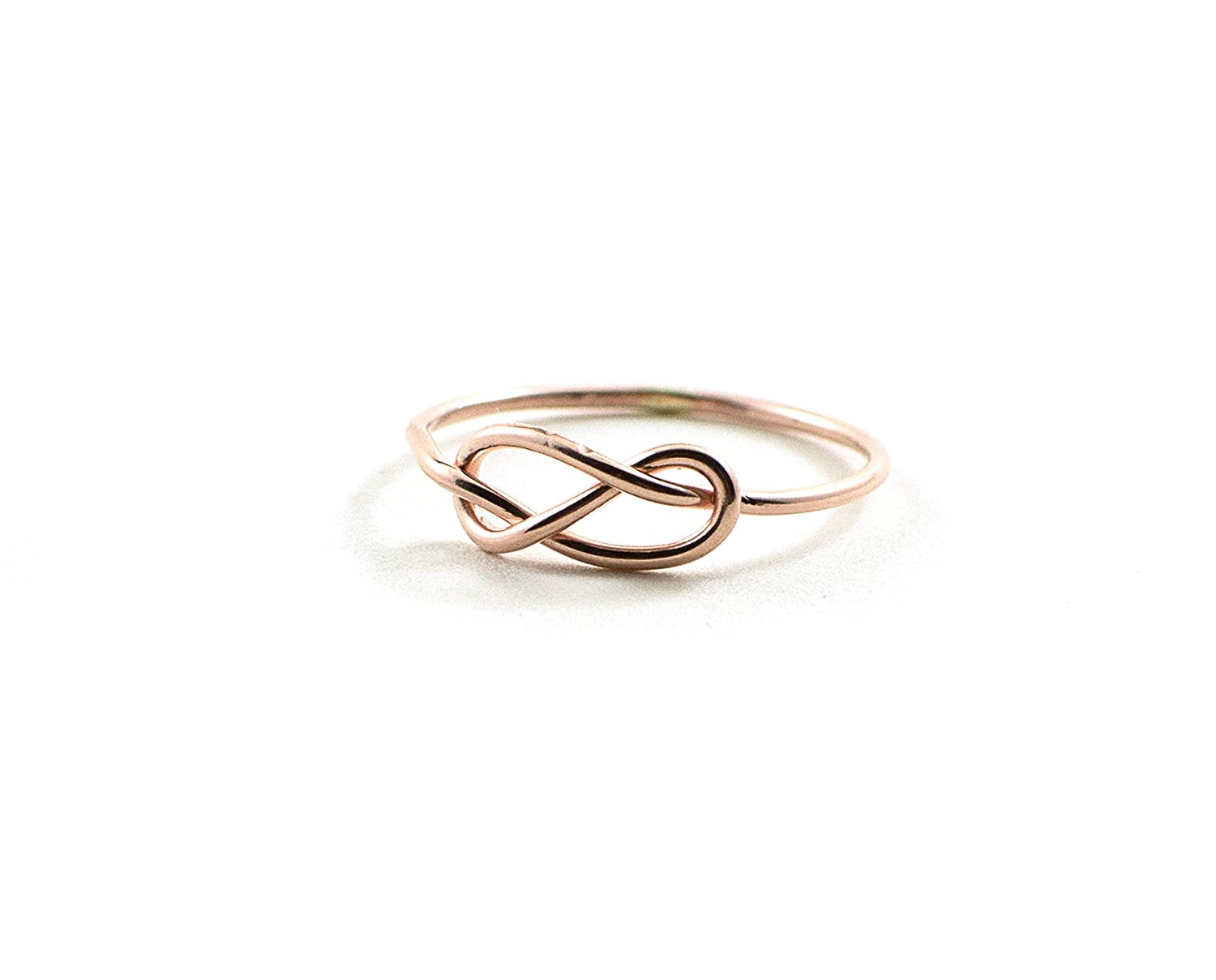 Amazon Infinity Knot Ring Love Tie The Rose Gold For Women Handmade: Handmade Wedding Bands New Hshire At Websimilar.org
