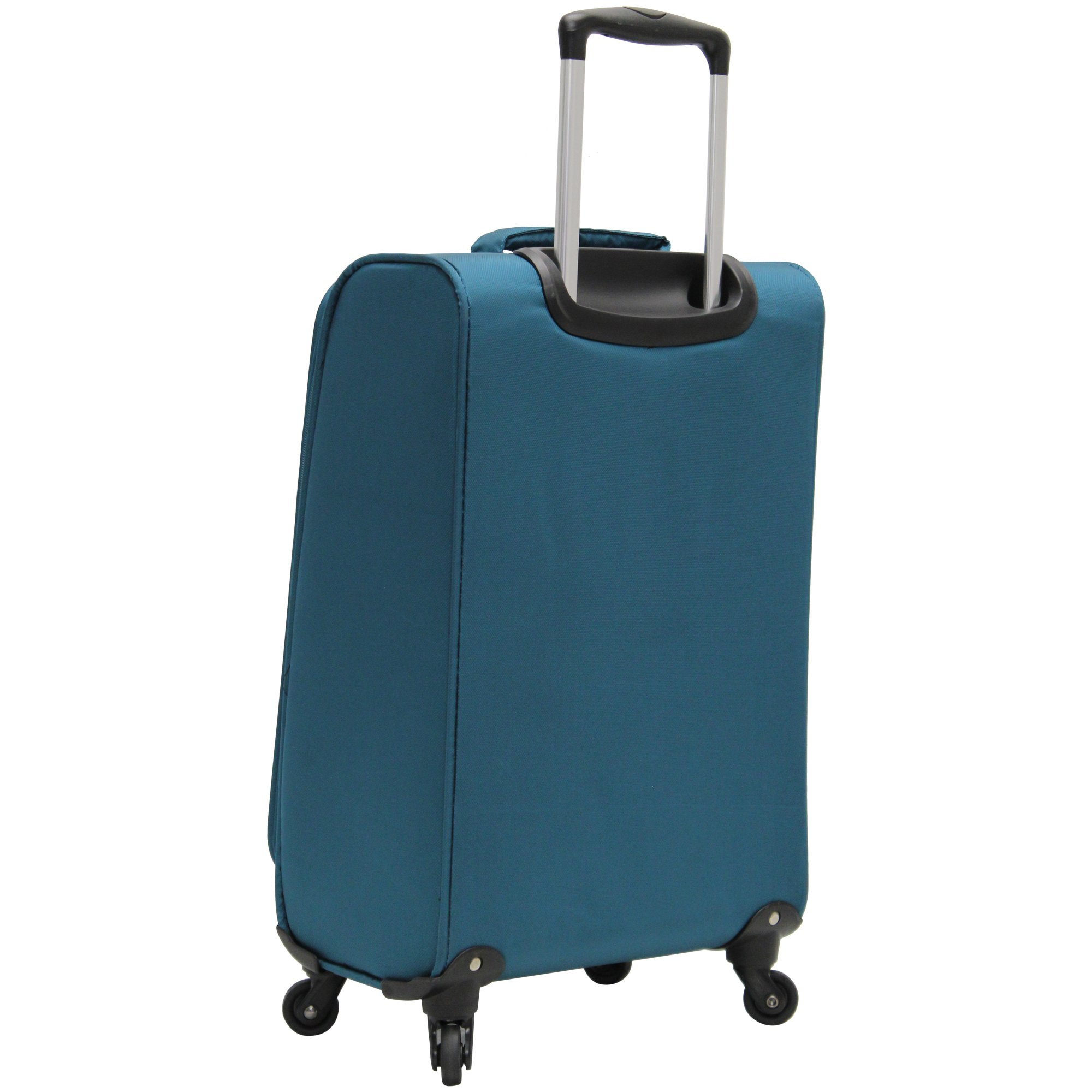 Lucas Luggage Ultra Lightweight Carry On 20 inch Expandable Suitcase With Spinner Wheels (20in, Teal) by Lucas (Image #3)